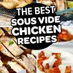 Pinterest image collage for Chicken Sous Vide Recipes For Beginners