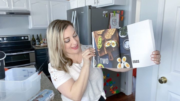 Jenna Passaro with The Home Chef's Sous Vide Cookbook chapter on sous vide eggs recipes