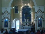 Igreja da Santa Cruz do Cortume (Vista Interna nº 2) - Edificada em 1818. Reconstruída e Ampliada em 1907 - R. Dr. Joaquim Nabuco - Penedo-AL