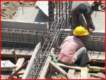 Pekerjaan Pile Cap dan Tie Beam pada Gedung Baru