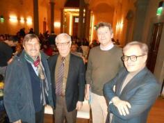 da sinistra Francesco Bottaccioli, Hugo Besedovsky, Andrea Minelli, David Lazzari;