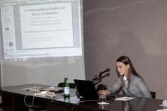 """Anna Giulia Bottaccioli, studentessa dell'ultimo anno di Medicina, Università di Roma La Sapienza presenta la sua comunicazione su """"Ossisteroli e malattia di Alzheimer"""""""