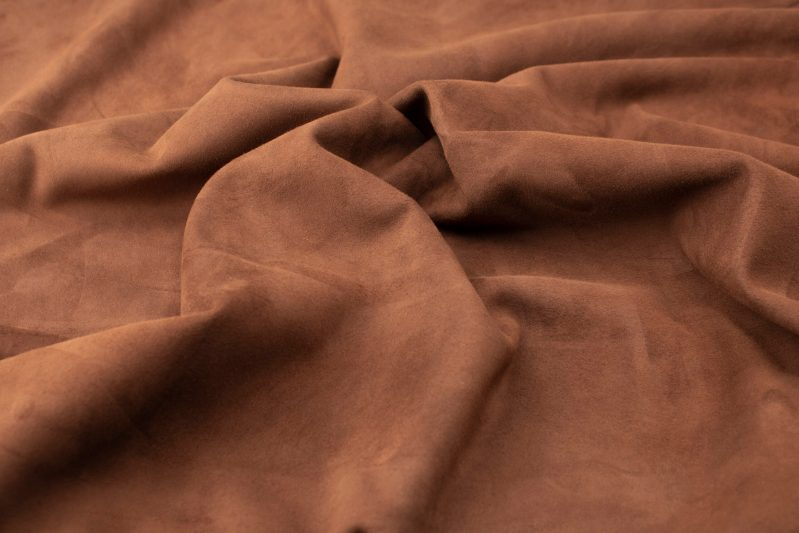 Silky suede maron Sipo l6r387s - leather for garments without lining