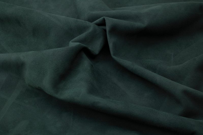 Silky suede dark green Sipo l6r785s - leather for garments without lining