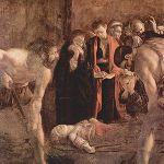 """""""Seppellimento di Santa Lucia"""" Michelangelo Merisi, detto il Caravaggio (attualmente presso la Chiesa di Santa Lucia alla Badia in Piazza Duomo)"""