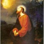 """Giuseppe Mancinelli """"Cristo Nell'orto"""" (1853), Chiesa di San Filippo Neri, Siracusa (Tela cm 205 x 155)"""