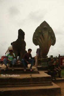 Balustrade, mystical creatures, Guardians of Angkor Wat