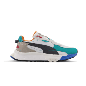 PUMA Wild Rider logo-print suede and textile trainers