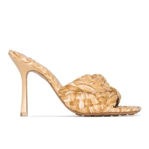 Bottega Veneta Stretch 90mm raffia sandals