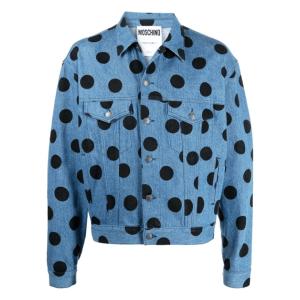 Moschino polka-dot denim jacket