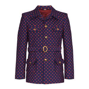Gucci GG polka-dot belted jacket