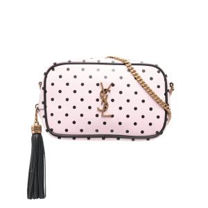 Saint Laurent tassel detail polka dot camera bag