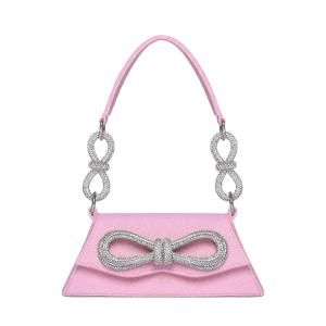 Mach & Mach Samantha Double-Bow Glittered Shoulder Bag