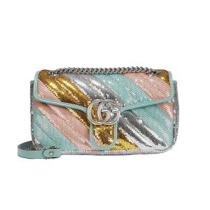 GUCCI Marmont sequin-embellished shoulder bag