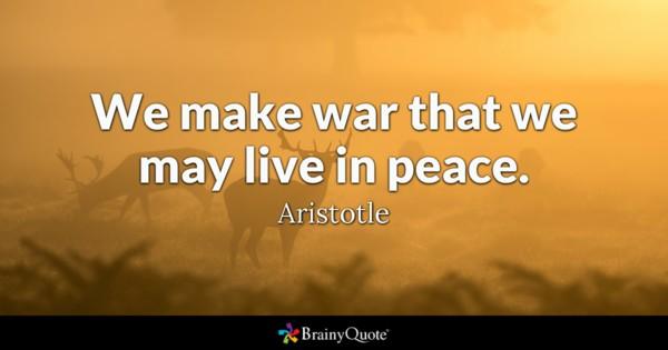 Aristo ve Savaş Üzerine