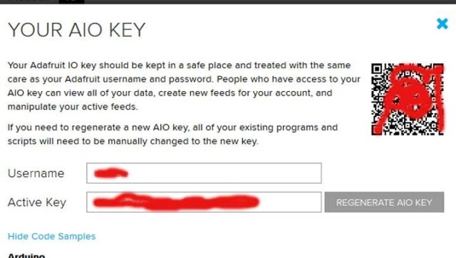 Obtaining or generating new AIO key