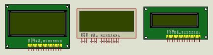 20x4 and 16x2 LCD display for Proteus ISIS