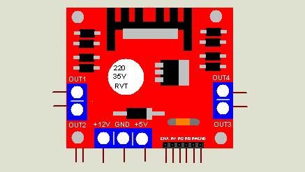 Motor Driver Library for Proteus