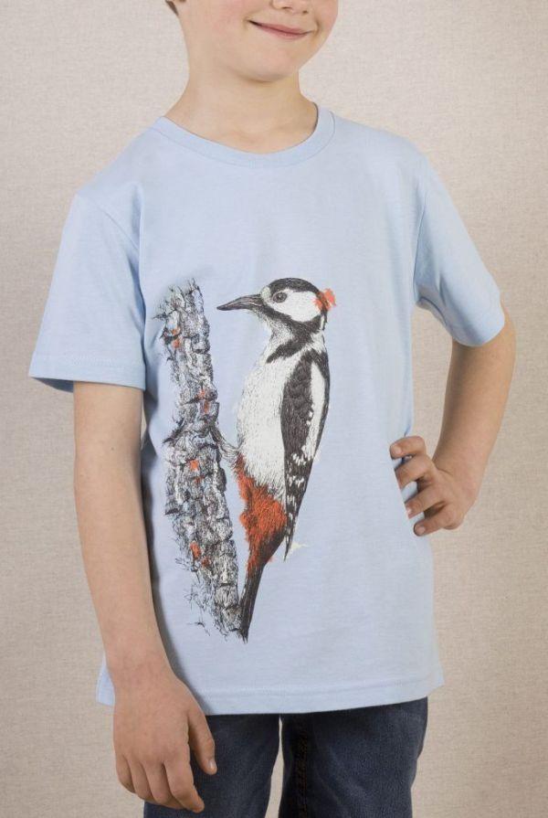 camiseta-ecologica-algodon organico-picapinos-niño-niña-infantil-azul-sirem wild