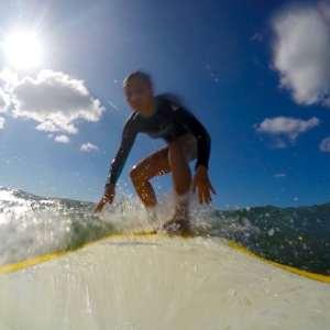 GoPro hard board surfing