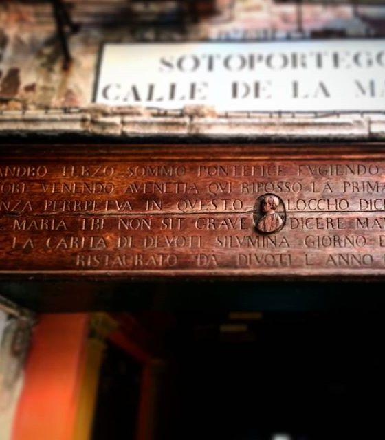 Venezia: Sotoportego de la Madona