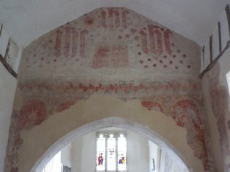 Image of wall paintings at St Thomas' Church, East Shefford