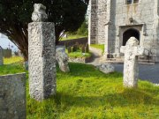 Image showing Ancient wayside crosses at St Anietus Church, St Neot Cornwall