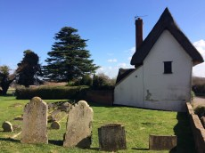 Image of graveyard and house at Albury, Hertfordshire