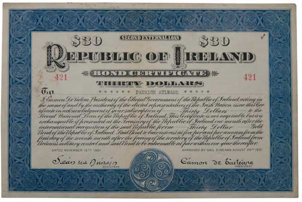 Republican-bond-30-dollars-1921-de-valera