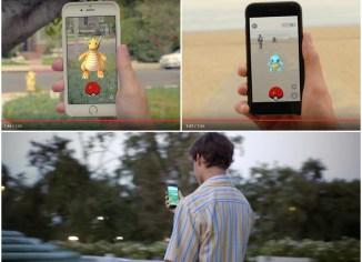 ภาพประกอบการเล่นเกมส์ Pokémon GO