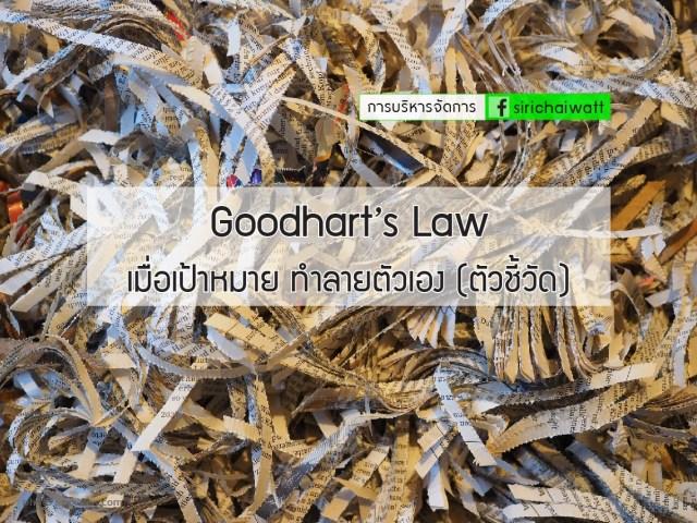 Goodhart's Law เมื่อเป้าหมาย ทำลายตัวเอง (ตัวชี้วัด)