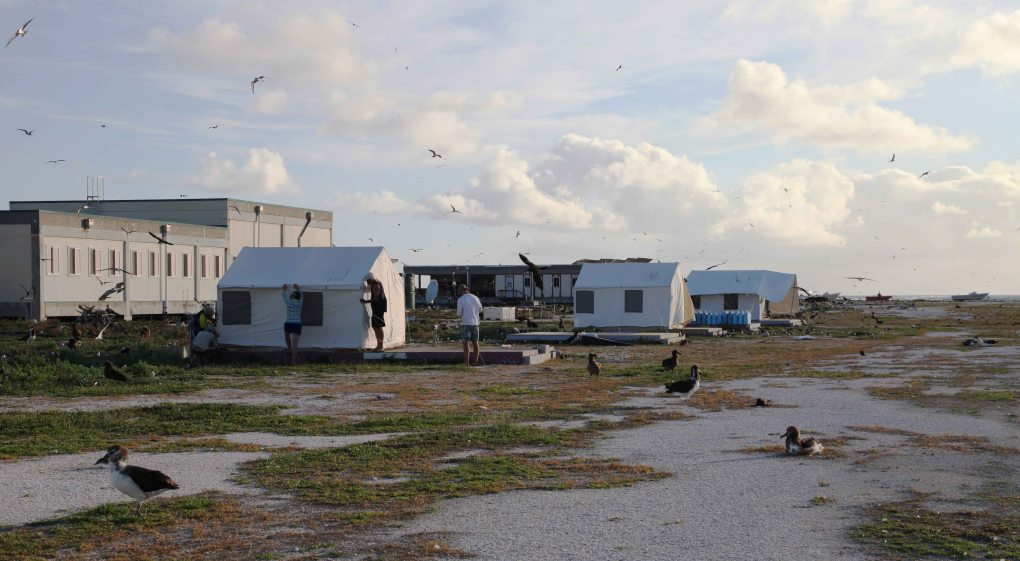 Tern Island tent city