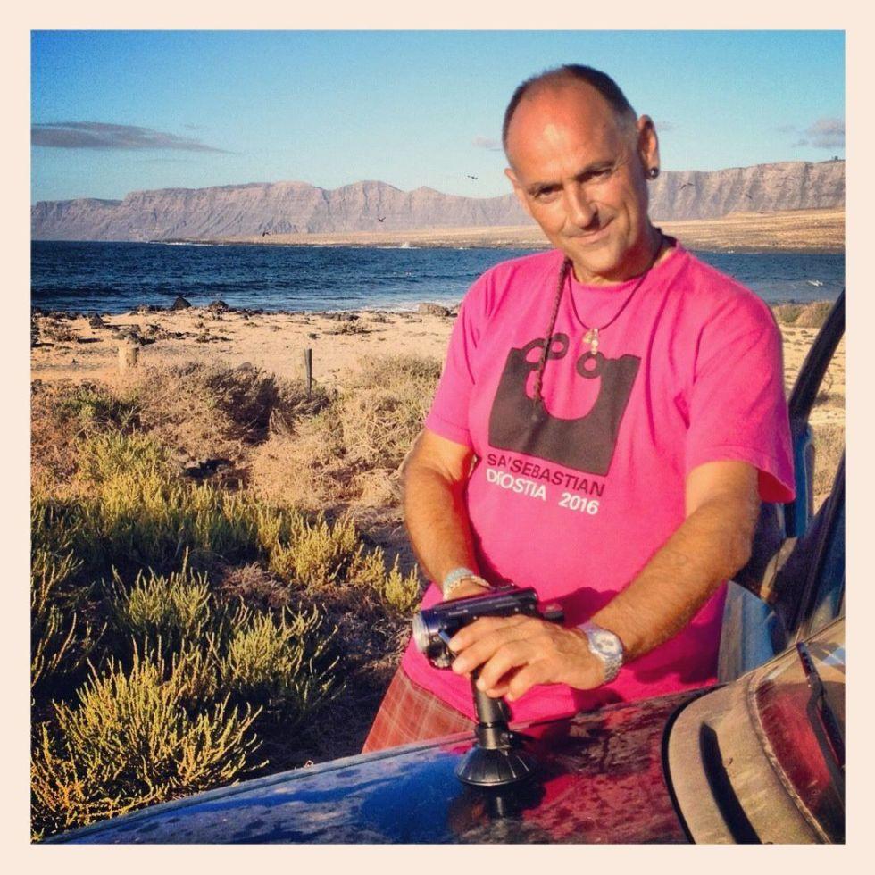 Con mi cámara en Lanzarote