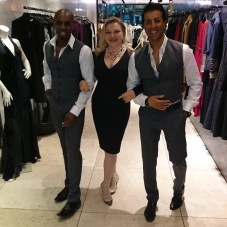 Cameron James and Ali Arshad (Sales Representatives) with Sirin's designer