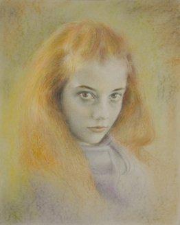 Junge Dame (Mischtechnik 2)