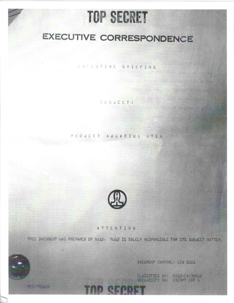 Project Aquarius Executive Correspondence, Cover