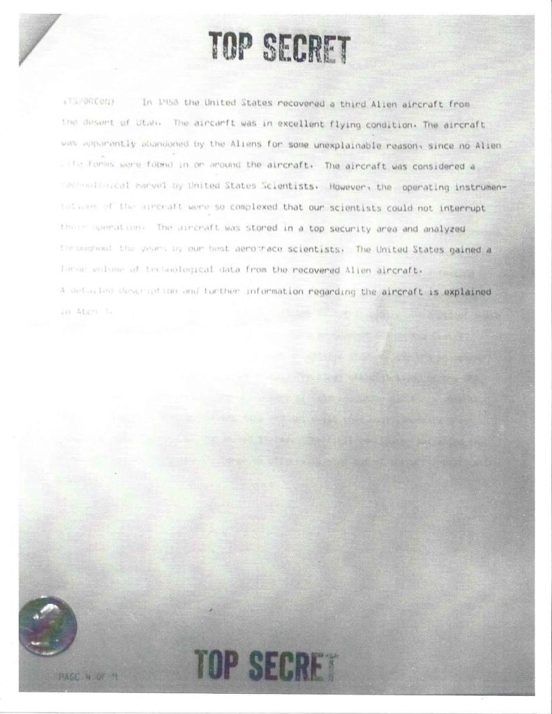 Project Aquarius Executive Correspondence, Pg. 4 of 9