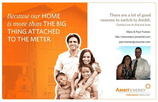 Because your home is not just The Big Thing attached to a Meter.Become one of our loyal Ambit Energy Customers Today!