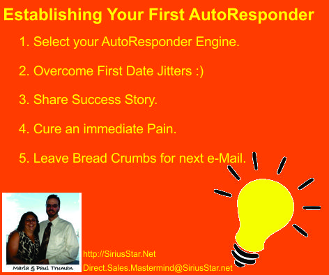 Establishing Your First Autoresponder