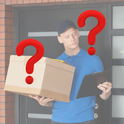 delivery guy can't find your address