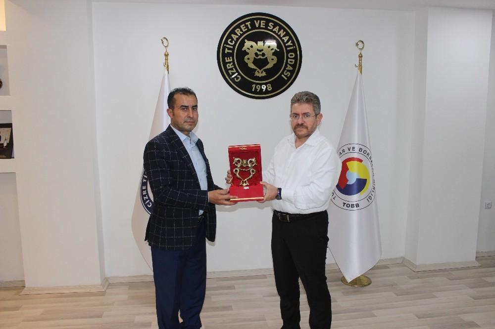 TSO Meclis Başkanı Yıldırım, Irak Türkmen Cephesi Milletvekili Bilal ile bir araya geldi