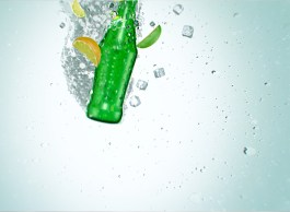 composting was done in Photoshop, the bubbles were simulated in a separate scene for ease in composting.