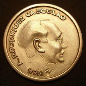 Medallística serie Letras Galegas