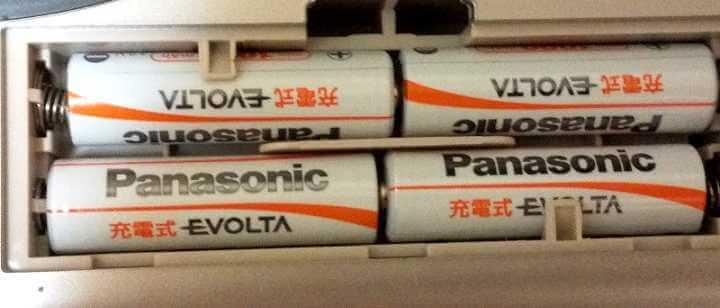 体組成計の充電池