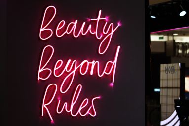 red beauty beyond rules neonlight