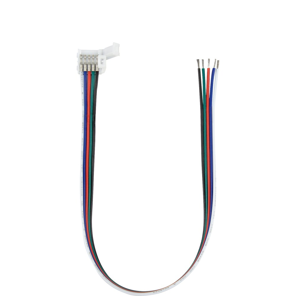 medium resolution of 5050 rgbw led strip coupler with lead or tail wires