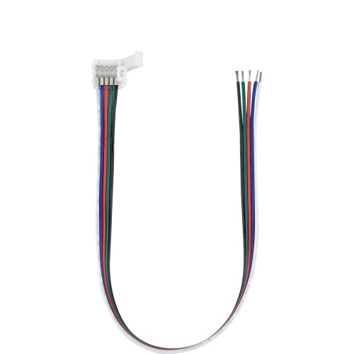 small resolution of 5050 rgbw led strip coupler with lead or tail wires