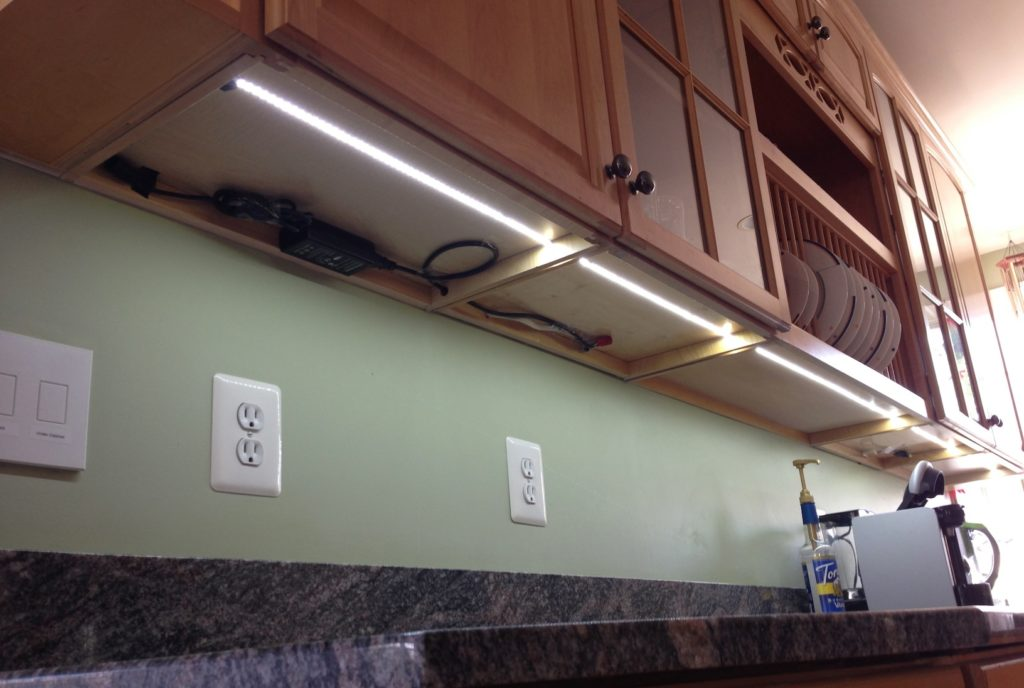 led tape kitchen wall shelving units 18 amazing strip lighting ideas for your next project sirs e under cabinet