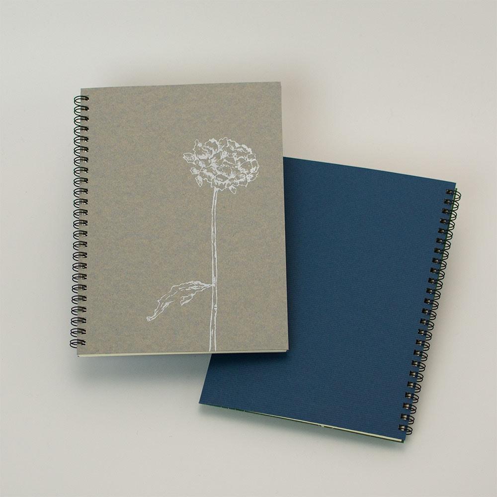 オーダーノート(A5)<br>dryflower<br>(裏表紙/濃青)イメージ5