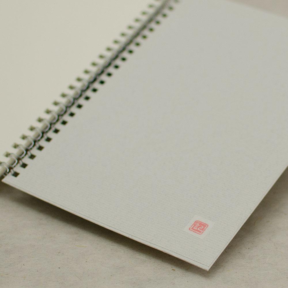 オーダーノート(A5)<br>hana グレー<br>(裏表紙/白銀)イメージ3